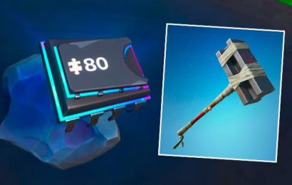Fortnite Fortbyte 80 Accessible by using Bunker Basher Pickaxe to Smash Rock Location