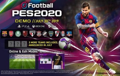 PES 2020 free game demo release news for PS4 and Xbox One, following PS Plus reveal