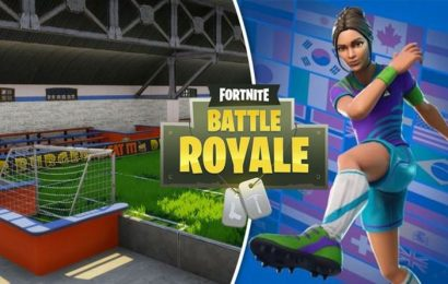 Fortnite indoor soccer pitch score a goal Overtime challenge map location revealed