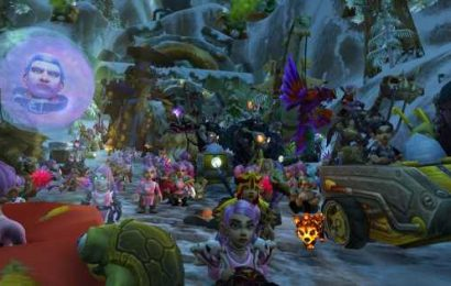 World of Warcraft Running of the Gnome race to raise money for breast cancer