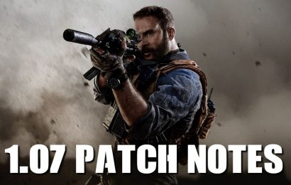 Call of Duty Modern Warfare Update 1.07 patch notes have been released
