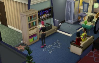 Sims 4 Detail: That Cheap Apartment Is Secretly A Crime Scene