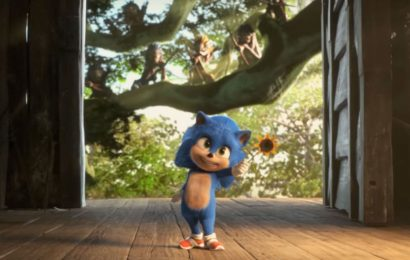 Baby Sonic Has Come For Baby Yoda's Tiny Throne