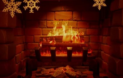How to warm yourself by the fireplace in Fortnite Winterfest