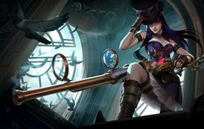 League of Legends player makes Caitlyn ult curve and kill the wrong target