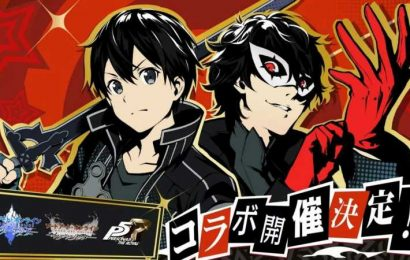 Joker and Kirito Join Forces in Newly Announced Persona 5 Royal x Sword Art Online Crossover