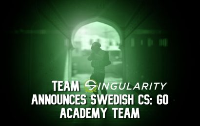 Team Singularity Announces Swedish CS: GO Academy Team