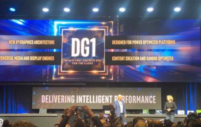 Intel shows off DG1 graphics chip for 2021
