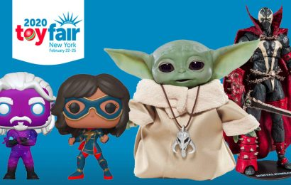 Toy Fair 2020's Best Reveals: Baby Yoda Merch, Halo Infinite Figures, Funko Pops, And More