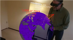 Coronavirus Tracker Visualises the Infection Scale in AR