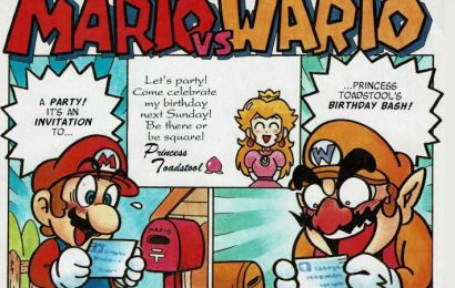 This Rare Comic Shows Mario And Wario Fistfighting Over Princess Peach