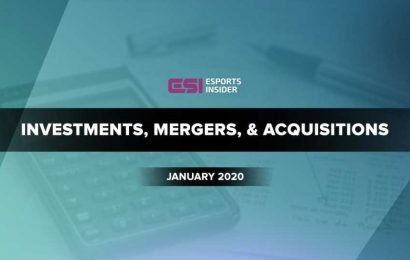 Esports investments, mergers, and acquisitions in January 2020