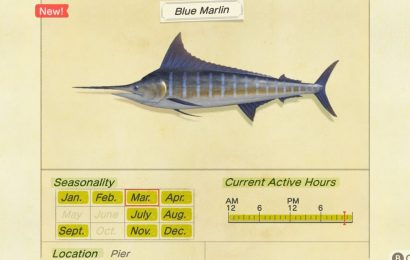 Animal Crossing: New Horizons – How To Catch The Valuable Blue Marlin