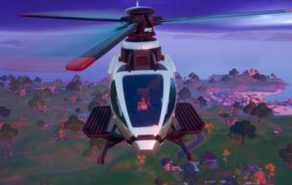 Fortnite's latest patch adds a helicopter with room for five
