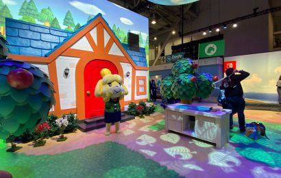 I want to live in Nintendo's Animal Crossing booth