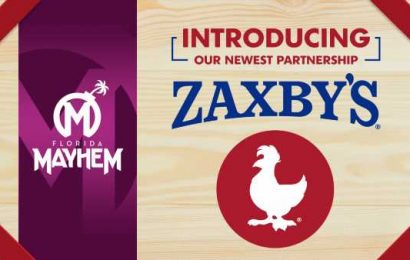 Florida Mayhem finds match-time meal partner in Zaxby's