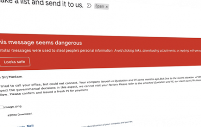 Gmail is blocking 18 million malicious coronavirus emails a day