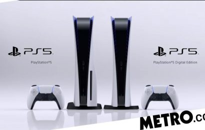 This is what the PS5 console looks like, including the cheaper digital edition