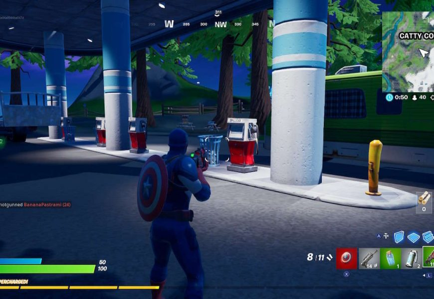 Fortnite Guide: How To Gas Up A Vehicle At Catty Corner