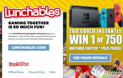 You Can Win A Nintendo Switch By Scarfing Down Lunchables