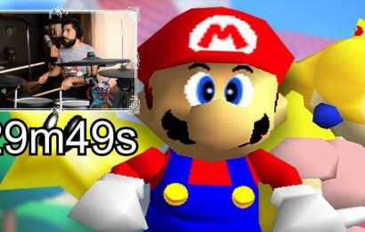 CZR Sets Super Mario 64 World Record Using A Drumset