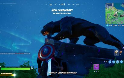 Fortnite Players Gather At Black Panther Statue To Honor Chadwick Boseman