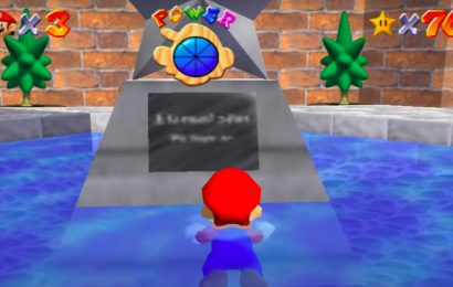 Super Mario 64's legendary sign is still blurry on Switch, here's why
