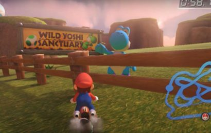 Gaming Detail: There's A Blue Yoshi In Mario Kart 8 Singing Totaka's Song