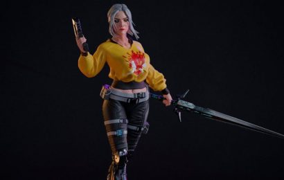Check Out This Fan Art Statue Of Ciri In Cyberpunk 2077