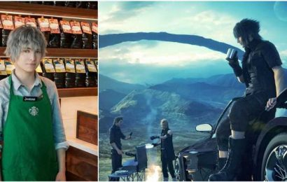 Starbucks Employee Goes Viral Because He Looks Like He's A Final Fantasy NPC