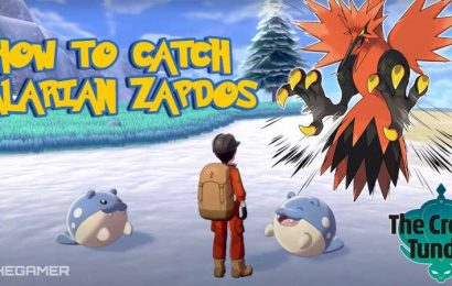 How To Catch Galarian Zapdos In Crown Tundra