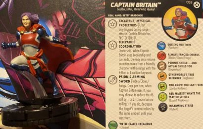 HeroClix X-Men House Of X: Captain Britain (Betsy Braddock) Revealed