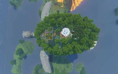Someone Built A Castle On Top Of A Flying Turtle In Minecraft