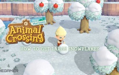 This Is How You Get Large Snowflakes In Animal Crossing: New Horizons