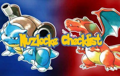 Pokemon Red & Blue Nuzlocke Checklist Guide