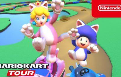 "Mario Kart Tour's ""Cat Tour"" Adds Cat Peach And Cat Toad"