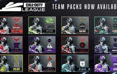 BOCW Call of Duty League Team Packs Revealed