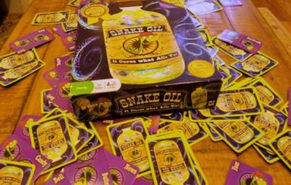 Few party games are as funny as Snake Oil