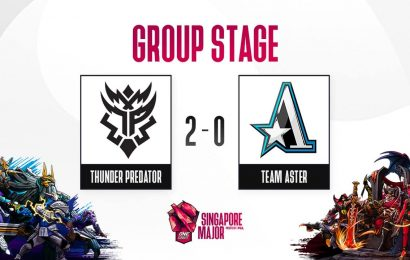 Dota 2: Singapore Major Group Stage; Day 3, Stream B