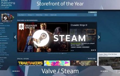 Steam Wins Storefront Of The Year At Indie Publishing Awards 2021