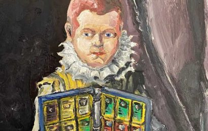This Artist Painted A Renaissance-Style Portrait Of A Kid With Loads Of Pokemon Cards