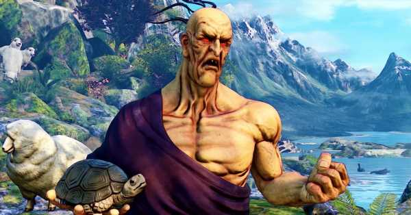 Street Fighter 5's next fighter never puts his pet turtle down