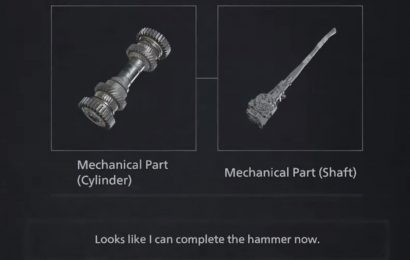 Resident Evil 8 Village: Combining The Mechanical Cylinder And Shaft To Craft Heisenberg's Hammer