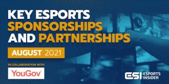 Key esports sponsorships and partnerships, August 2021 – Esports Insider