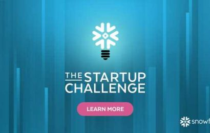 The Snowflake Startup Challenge is under way — with $1 million up for grabs